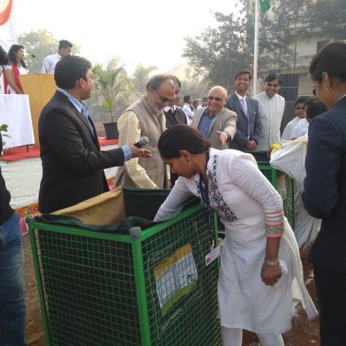 Launch of E-waste Management campaign in MIT AOE, Pune, India